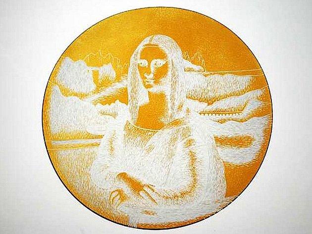Jednou z vystavených prací je i Mona Lisae Petry Schneiderové.