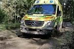 Řidiči Zdravotnické záchranné služby Libereckého kraje cvičí v Ralsku.