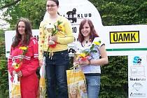 Markéta Opolská (vpravo) obsadila ve své kategorii třetí místo.