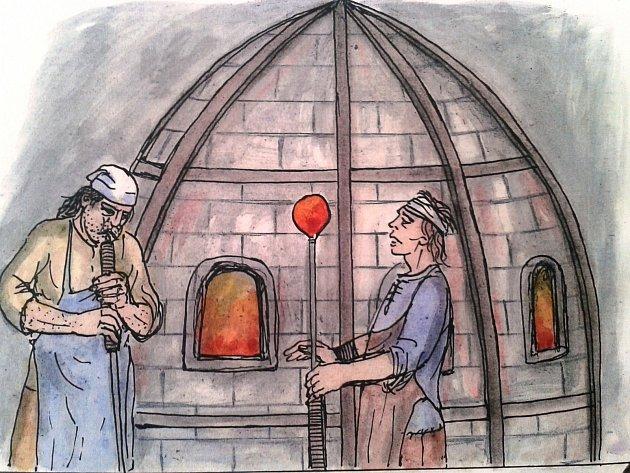 Autorem komiksu, který vychází u příležitosti sklářského sympozia IGS 2015, je sklář, výtvarník, karikaturista i učitel Jan Vobr.
