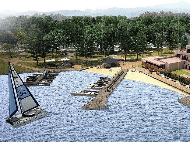 Studie architektů ze studia City Work Architects navrhuje oživení starosplavského pobřeží rozdělit do pěti etap.