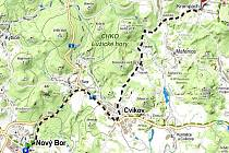 Z BORU NA KROMPACH. Taková je trasa cyklobusů, které budou od června vozit v Lužických horách turisty. V okolí Krompachu je bohatá nabídka výletních cílů. Na kolech se dá odsud dojet i na vrcholy dvou nejvyšších hor Lužických hor Luž a Hvozd.