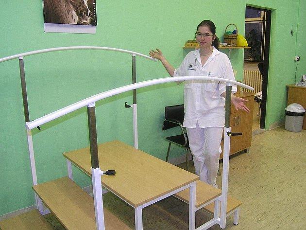 Pacienti, kteří jsou hospitalizovaní na chirurgii, ortopedii nebo interně, mohou cvičit v nových rehabilitačních místnostech.