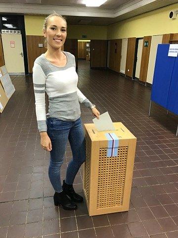 Potřetí šla k volbám dvacetiletá Alexandra Kristenová z České Lípy.