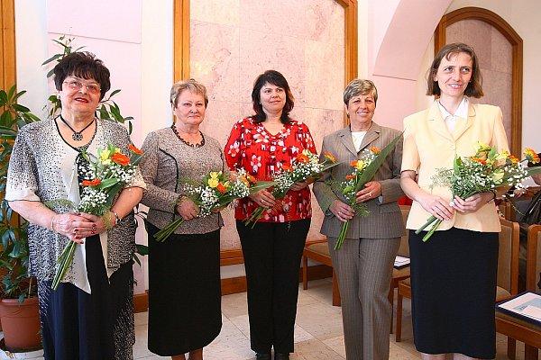 Oceněné pedagožky: Jitka Vlková, Lubomíra Hejnová, Lenka Limberková, Věra Hrušková a Eva Samešová.