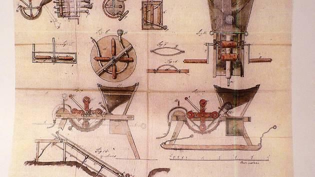 Vynález Ferdinanda Leitenbergera, který byl patentován ve Vídni roku 1852.