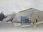 Zvnějšku by se v případě přestavby KD Crystal výrazněji změnila jen střecha objektu. Byla by vyšší. Na jižní skleněné stěně by se měly objevit solární panely.