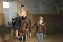Děti strávily víkend v jízdárně Šafářského dvora ve Vyškově. S koňmi a králíky.