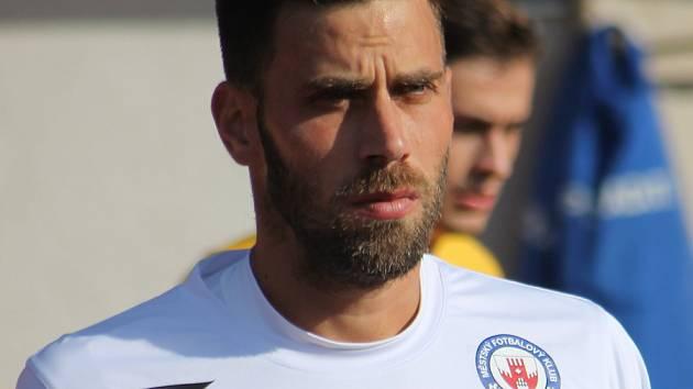 Kapitán fotbalistů MFK Vyškov Michal Klesa.