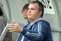 Trenér fotbalistů Sokola Bohdalice Petr Kalousek.