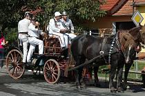 Dobrovolní hasiči z Jižní Moravy vybrali nejhezčí prapor, divákům předvedli historickou techniku.