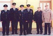 Současný výbor Sdružení dobrovolných hasičů Nevojice, zleva: Zdeněk Švaňhal, Jiří Slavíček, Karel Handlíř, Karel Hladký, Karel Burian, Jaroslav Poul