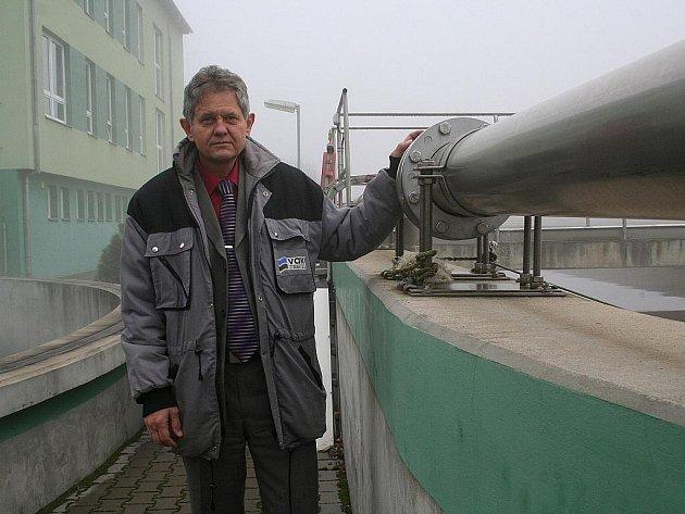 Ředitel společnosti Vodovody a kanalizace Vyškov Vladimír Kramář.
