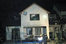 Požár garáže v Rousínově.