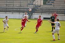 Fotbalisté Uničova pouze remizovali v Rosicích 0:0. Ilustrační foto.