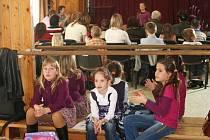 Recitační soutěž dětí ve Vyškově.