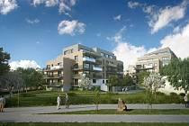 Vizualizace plánovaných bytových domů.