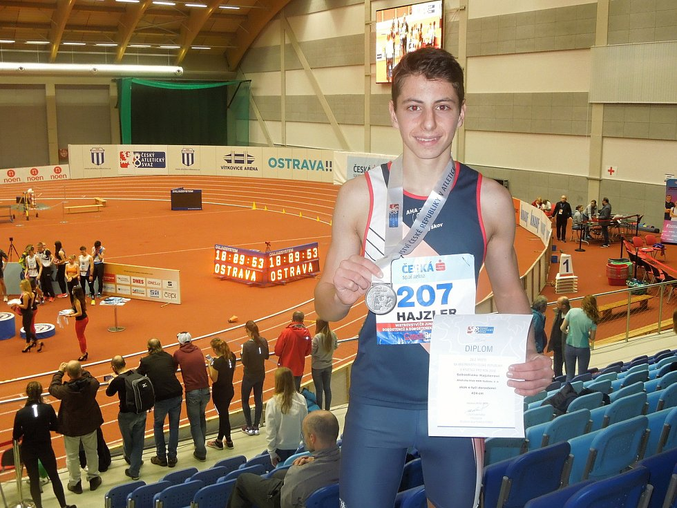 Nejlepší sportovec Vyškova za rok 2020 Sebastian Hajzler z AK AHA Vyškov.