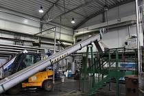Pohled na třídící halu vyškovské bioplynové stanice.