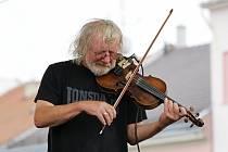 Součástí letních koncertů na vyškovském náměstí bylo i uskupení Kukulín.