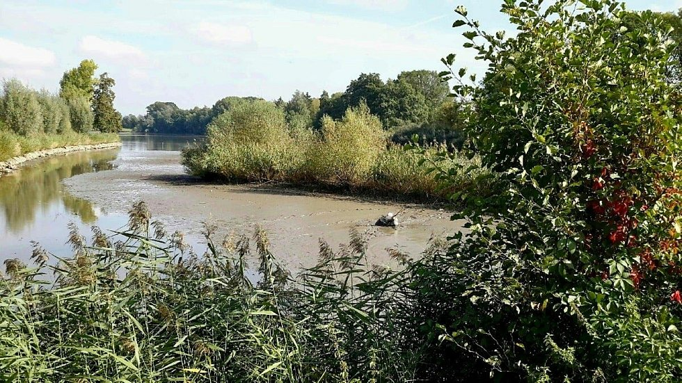 Pomoc hasičů potřeboval muž na rybníku Kačenec.