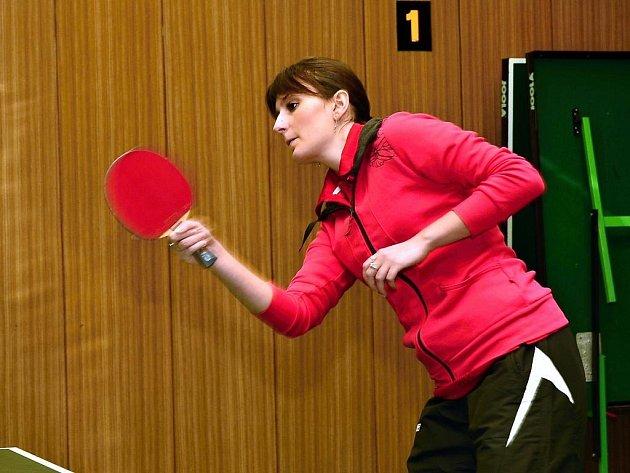 Stolní tenistka TTC Komořany Alena Hudcová