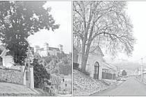 Račická kaplička na snímku patrně z roku 1923. Soudobá fotografie vznikla v letošním lednu.
