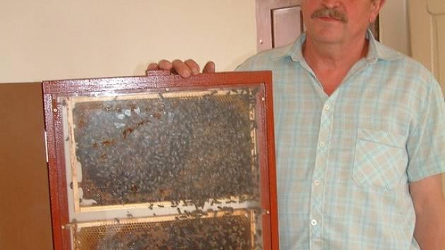 Včelař Petr Pospíšil z Letonic