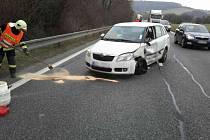 K dopravní nehodě u Nevojic musel vrtulník. Odvážel těhotnou ženu