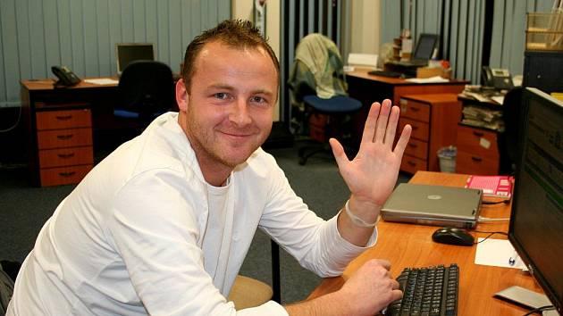 Jaroslav Kolečkář při online rozhovoru.