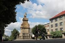 Náměstí v Ivanovicích na Hané.