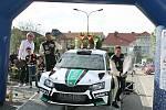 Sedmadvacátý ročník automobilové Rally Vyškov vyhrál Jaromír Tarabus s vozem Škoda Fabia R5. Foto Jiří Dokulil