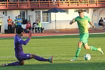 Snímky jsou z pohárového utkání MFK Vyškov - Viktoria Plzeň. Zelené dresy Vyškovští obléknou i ve čtvrtek se Zlínem.