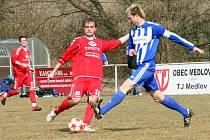 V posledním přípravném utkání na mistrovské soutěže porazili uničovští fotbalisté Vyškov 2:1.