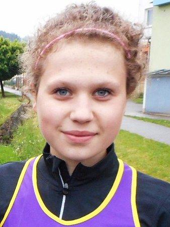 Atletka Karolína Zádrapová.