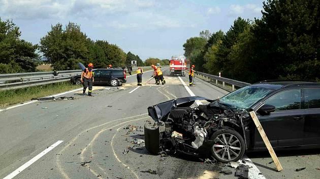 Dopravní nehoda na 224. kilometru dálnice D1.