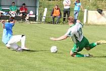Fotbalisté Rousínova zdolali Rájec-Jestřebí 1:0.