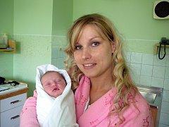 Natálie Olejníková a maminkou Lenkou, 47 cm, 2860 g, 14. května 2013, Drnovice, Nemocnice Vyškov