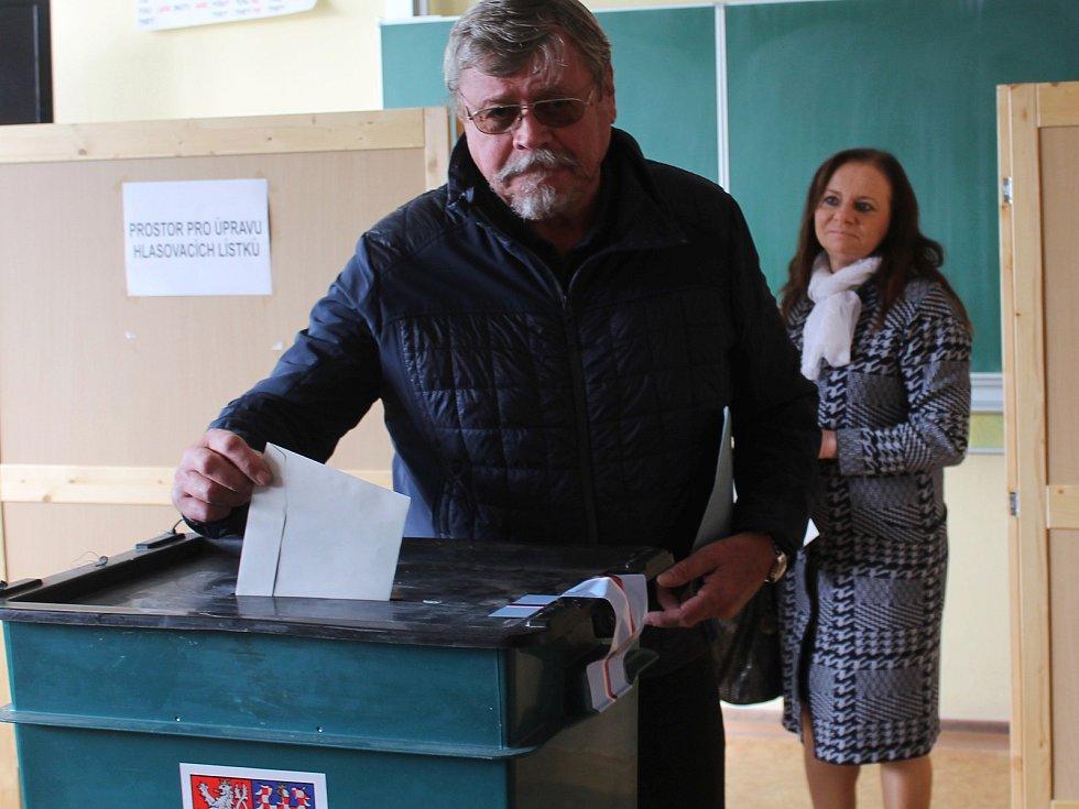 Ve Vyškově se volilo i na Základní škole Purkyňova. Na voliče čekali rovnou čtyři volební místnosti.