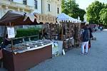 Prodejci dorazili do Slavkova se svým zbožím.