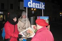 Ve Vyškově se akce Česko zpívá koledy s regionálním Deníkem loni zúčastnilo na dvě stě lidí.