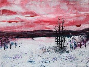 Obrazy tvoří Izabela Machútová pomocí žehličky.