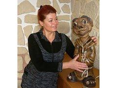 Ivana Marišlerová z Tučap na Vyškovsku se věnuje keramice.