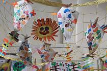 Výstava prací dětí z Mateřské školy Šikulka ve Vyškově.