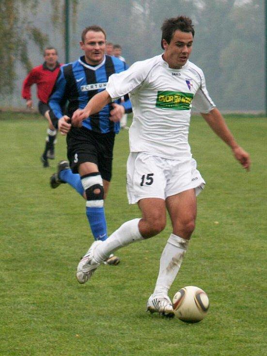 Fotbalista Richard Jičínský ze Švábenic.