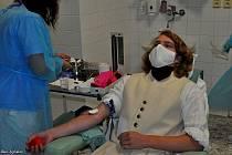 Napoleonští vojáci darovali ve vyškovské nemocnici krev.