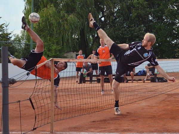 Zápas nohejbalistů Ivanovic na Hané. Ilustrační foto.