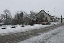 Mokrý sníh pokryl Vyškovsko.