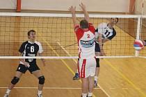V dalším dvoukole  II. ligy volejbalistů se TJ Holubice a Sokol Drásov rozešly smírně po výsledcích 3:0 a 1:3.