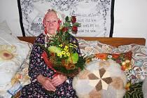 Božena Zástavová z Bošovic oslavila sté narozeniny.